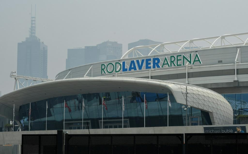 Smoke haze blanketed the Rod Laver Arena in Melbourne