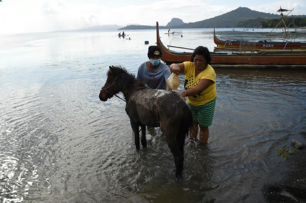 Taal's community had to flee without their prized ponies and most of their possessions when the volcano errupted