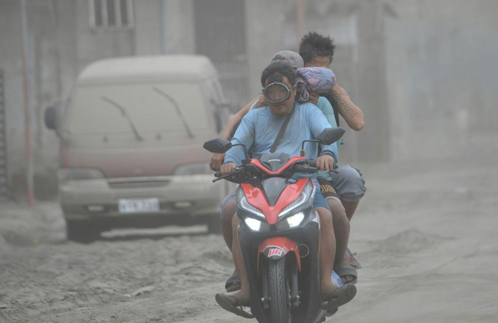 Agoncillo town in the Philippines' Batangas province has been blanketed with ash from the Taal volcano
