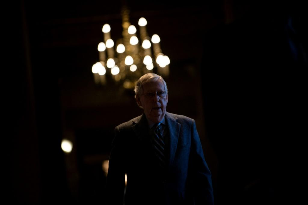 Senate Majority Leader Senator Mitch McConnell leads a Republican Party marching in lockstep with President Donald Trump