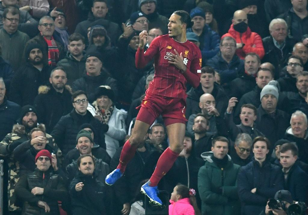 Head and shoulders above the rest: Virgil van Dijk has led Liverpool to a 16-point Premier League lead