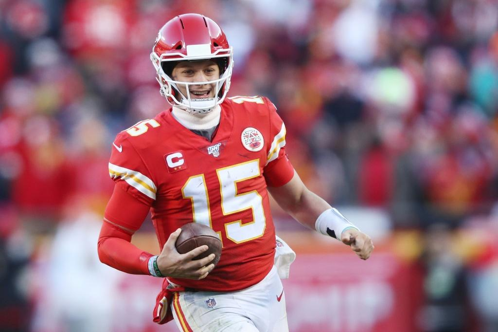 Patrick Mahomes is all smiles after leading the Kansas City Chiefs back to the Super Bowl for the first time in 50 years