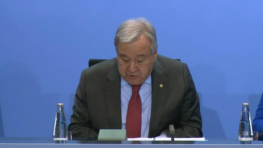 """UN chief Antonio Guterres says world powers pledged to """"refrain from interference"""" in Libya's war"""