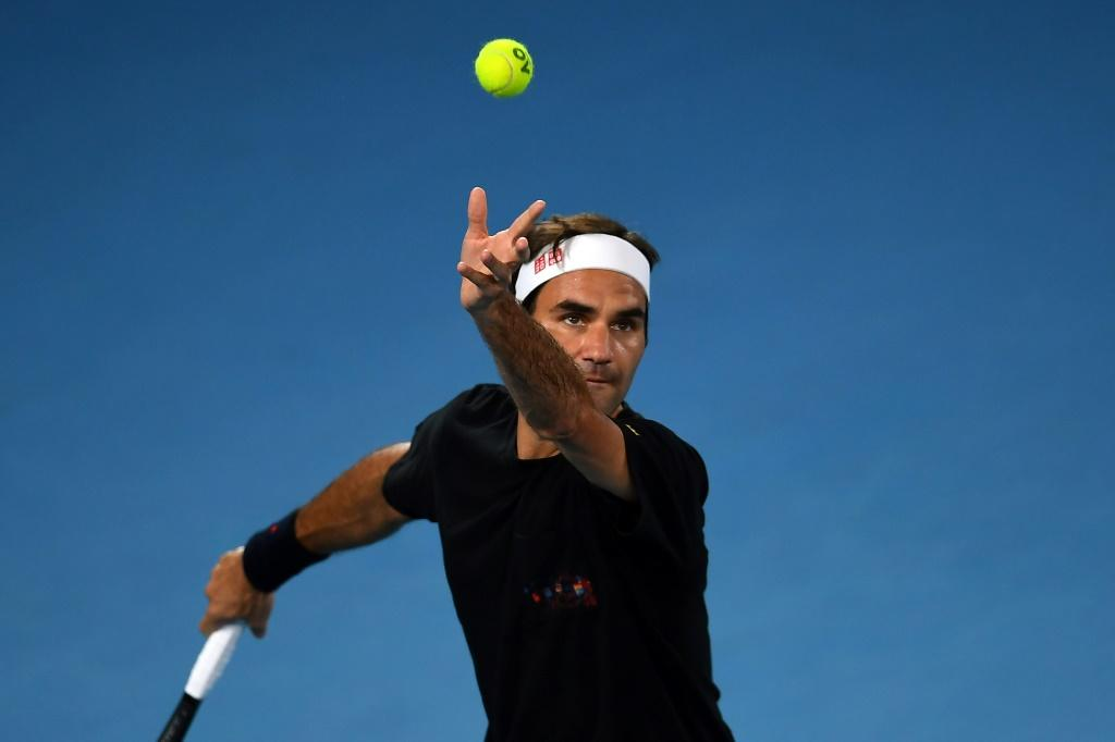 World number three Roger Federer is in action on day one