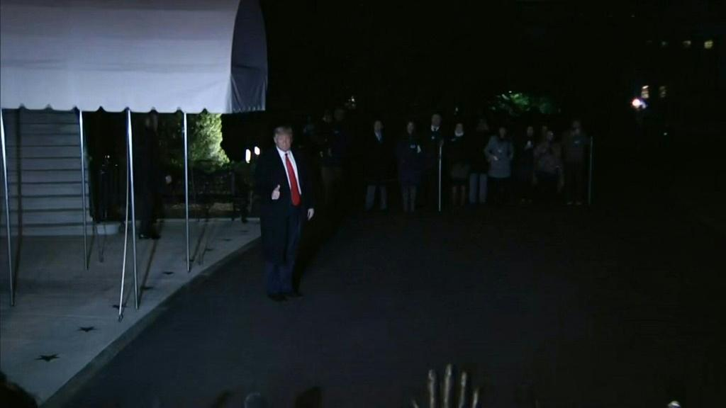 IMAGESOne day before the start of the historic impeachment trial in Washington DC, US President Donald Trump leaves for Davos, in Switzerland. Duration:00:27
