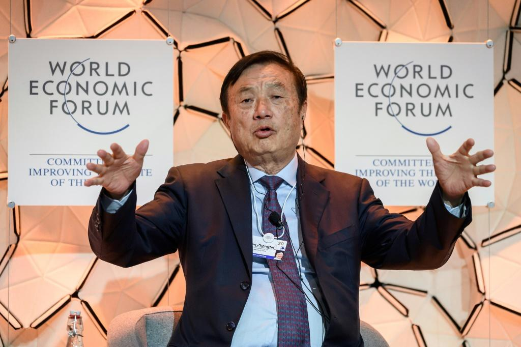 Ren Zhengfei, CEO of Chinese telecoms giant Huawei, attended Davos, unfazed by the firm being banned from the United States over a perceived risk of Chinese espionage