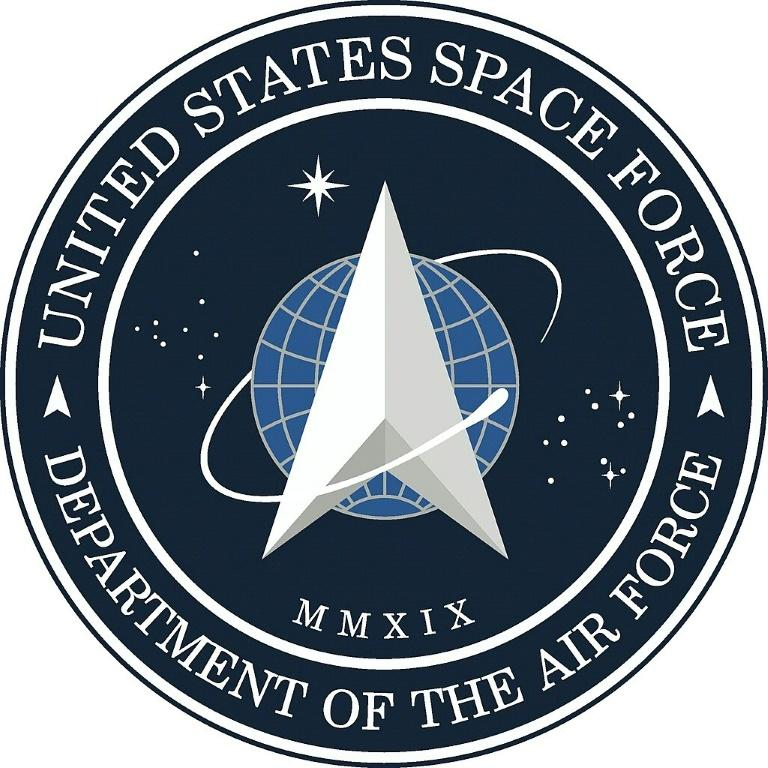 Image courtesy US Air Force shows the new logo for the United States Space Force, founded 20 December 2019, which was revealed by US President Donald Trump on January 24, 2020