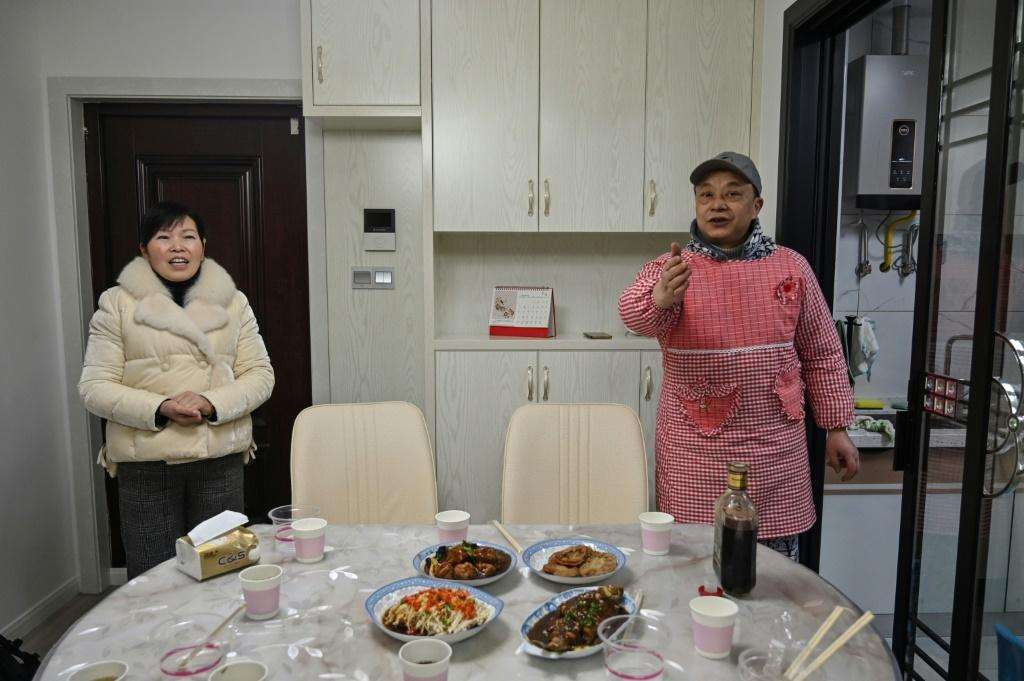 The holiday is normally a joyous occasion for family reunions across China, but the couple's son could not join them this year