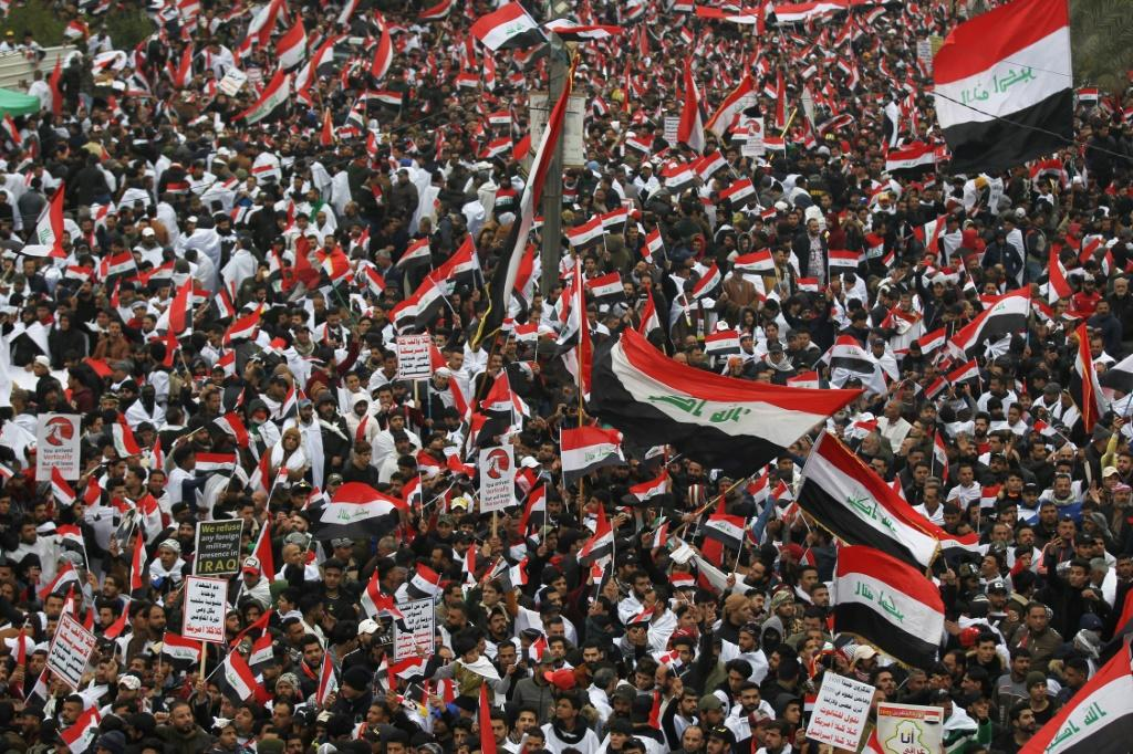 Sadr again demonstrated his powers of mobilisation with a mass demonstration in the heart of Baghdad on Friday demanding the departure of US troops