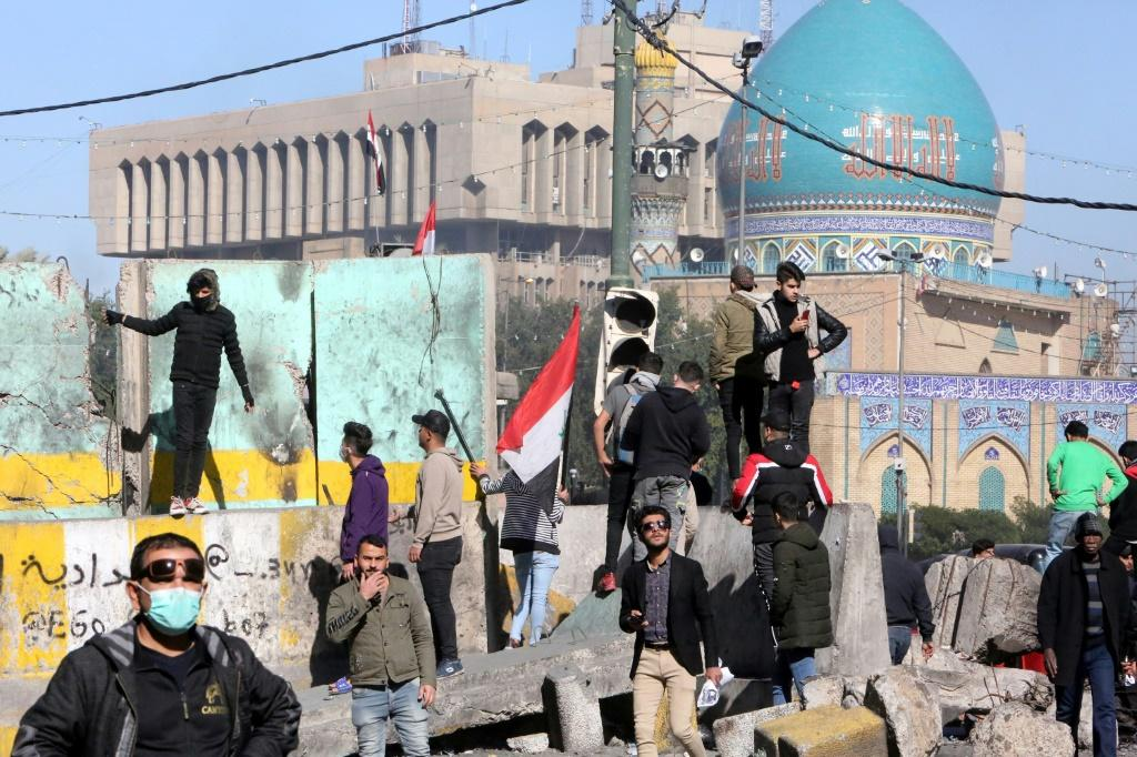 Baghdad's al-Khillani Square has become a key site of protests