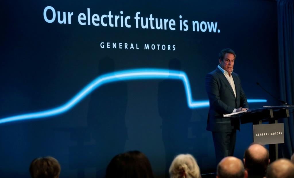 General Motors president Mark Reuss speaks at their Detroit-Hamtramck assembly plant on January 27, 2020 in Detroit, Michigan in the United States