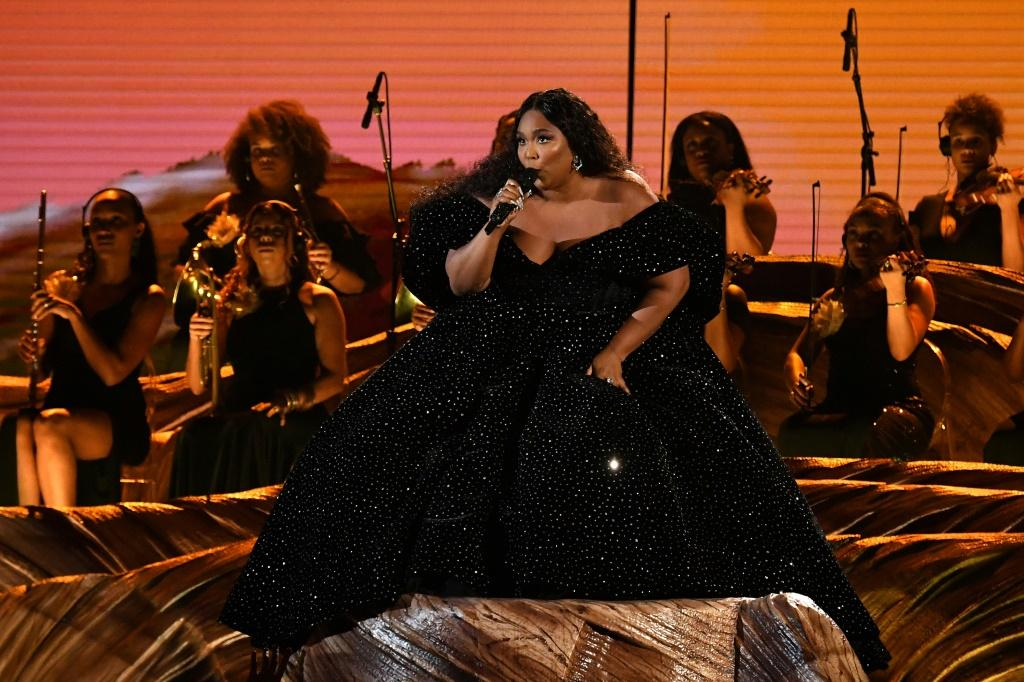 Lizzo's onstage look was designed by Christian Siriano