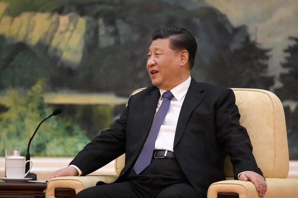"""Chinese President Xi Jinping speaks during a meeting with World Health Organization chief Tedros Adhanom Ghebreyesus (not pictured) at the Great Hall of the People in Beijing -- he called the epidemic a """"demon"""