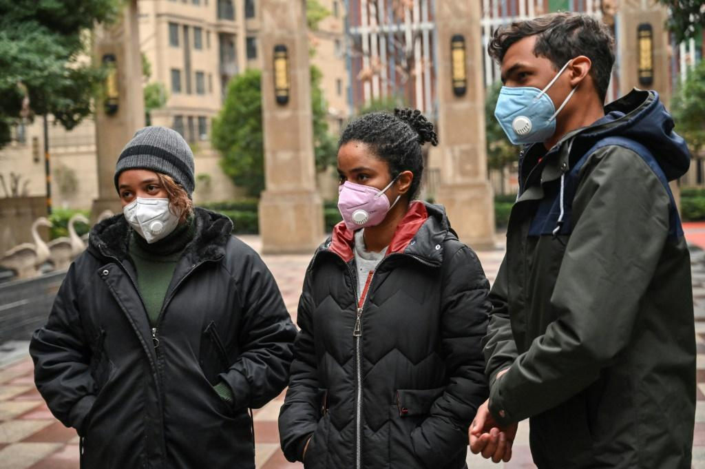 Students from the Dominican Republic speak during a interview with AFP about the possibility of being evacuated from Wuhan