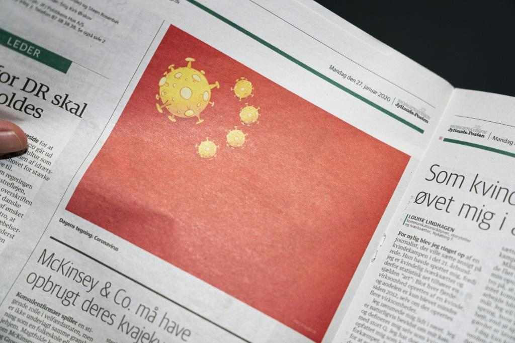 The Chinese embassy said the cartoon crossed the 'ethical boundary of free speech'