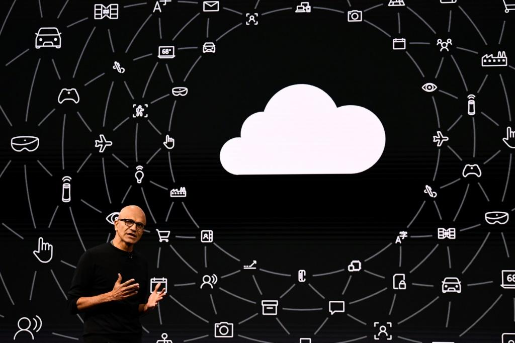 Microsoft CEO Satya Nadella says the tech giant's latest results come from a variety of consumer and business services including cloud computing