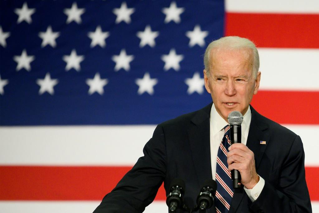 Democratic White House candidate Joe Biden is barnstorming the state in an attempt to win his party's presidential nomination