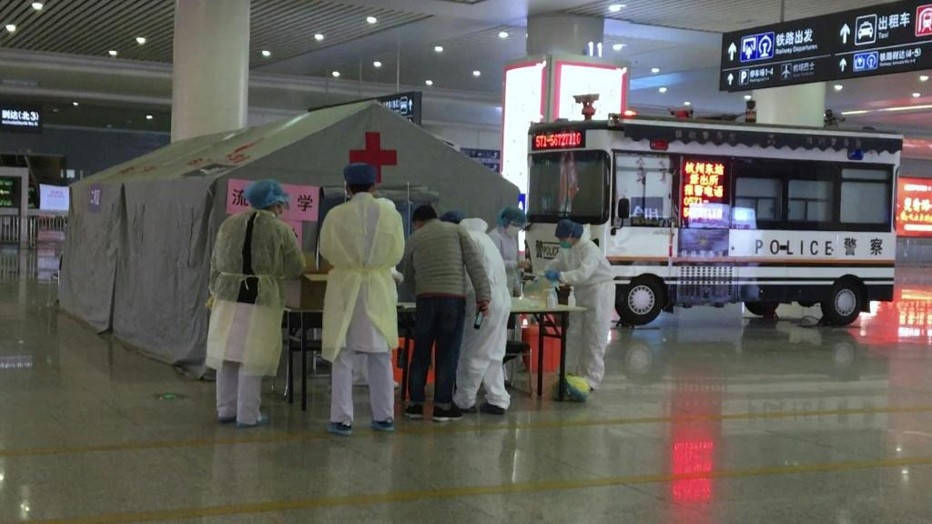 IMAGES Authorities lock down three districts in China's eastern city of Hangzhou, the spread of the coronavirus. Only allow one person per household to go outside every two days to buy necessities.Duration:01:12 Hangzhou, in the eastern province of Zheji