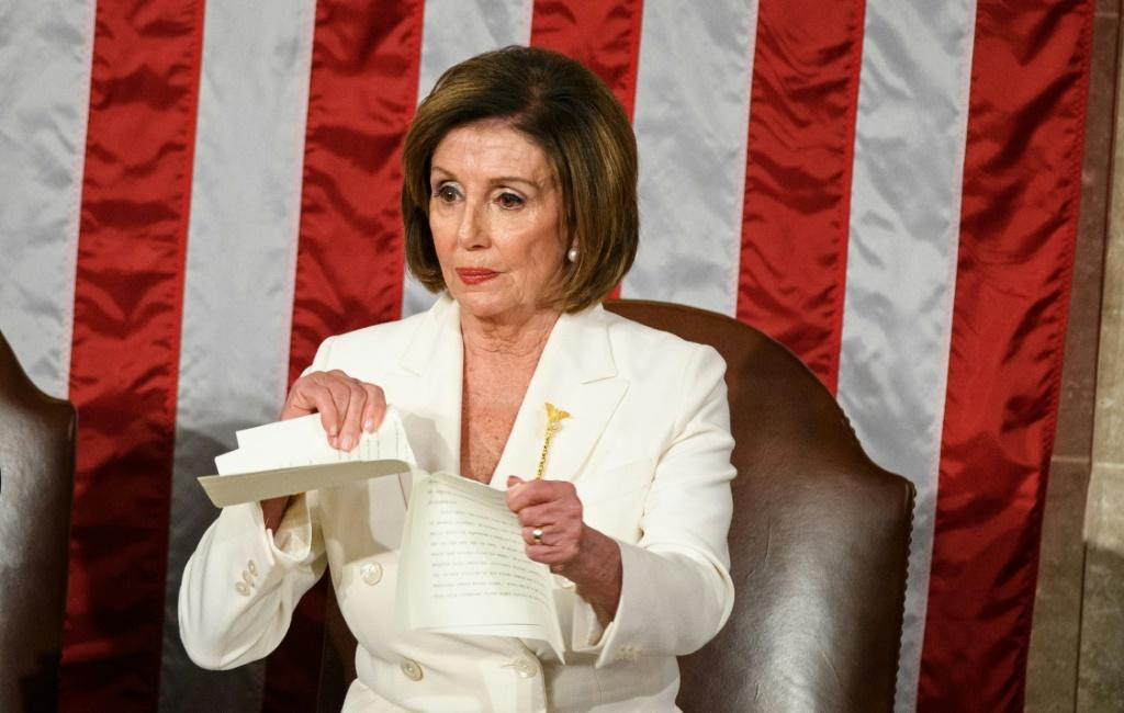 "Speaker of the US House of Representatives Nancy Pelosi says that despite his Senate acquittal at trial, President Donald Trump will remain ""forever impeached"