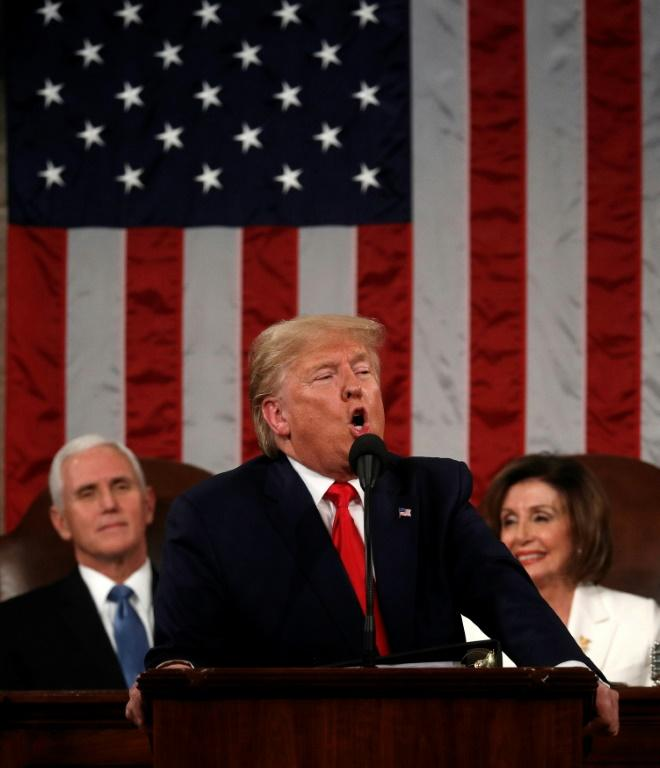 US President Donald Trump delivers his State of the Union address