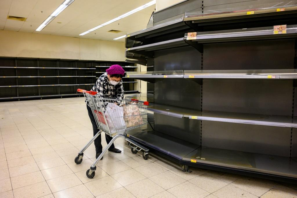 In the last week, Hong Kong has been hit by a wave of panic-buying with supermarket shelves frequently emptied of staple goods such as toilet paper, hand sanitiser, rice and pasta