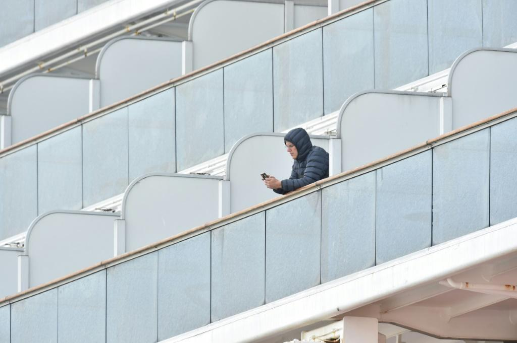Many passengers stuck on the cruise ship are whiling away the hours on social media