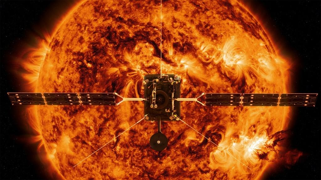 This handout illustration image provided by NASA shows the Solar Orbiter, which, in collaboration with the European Space Agency, was launched in 2020 on a mission to study the Sun's polar regions and magnetic environment