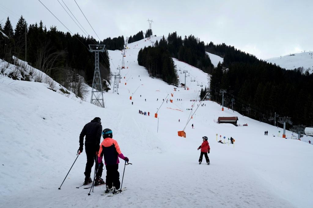 The resort of Contamines-Montjoie in the French Alps, where the British man travelled in late January
