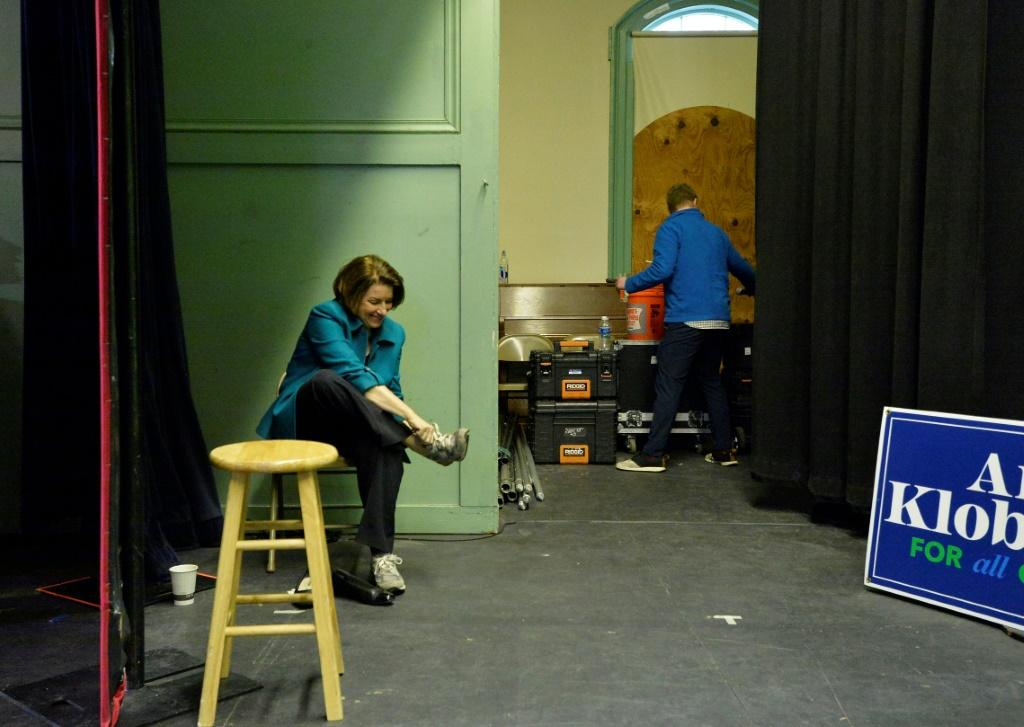 Senator Amy Klobuchar, pictured after a town hall in Exeter, New Hampshire on February 10, 2020, has been rising in the polls
