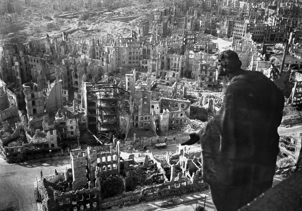 Historians think the February 13, 1945 Allied bombing of Dresden killed 25,000 people