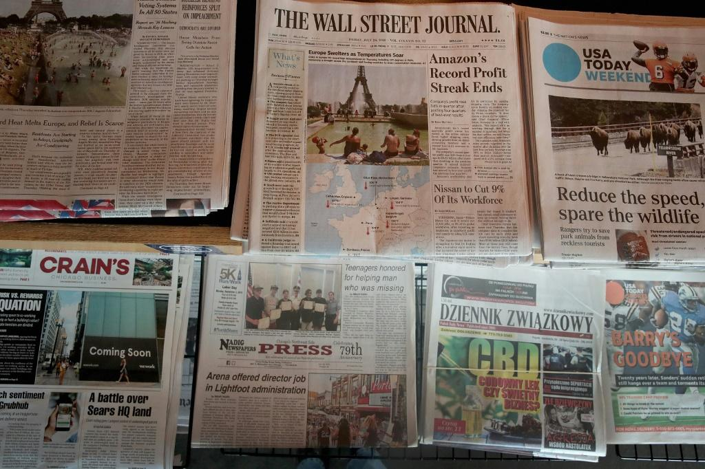 Newspaper circulation in the United States has reached its lowest level in decades, with many readers turning to digital news