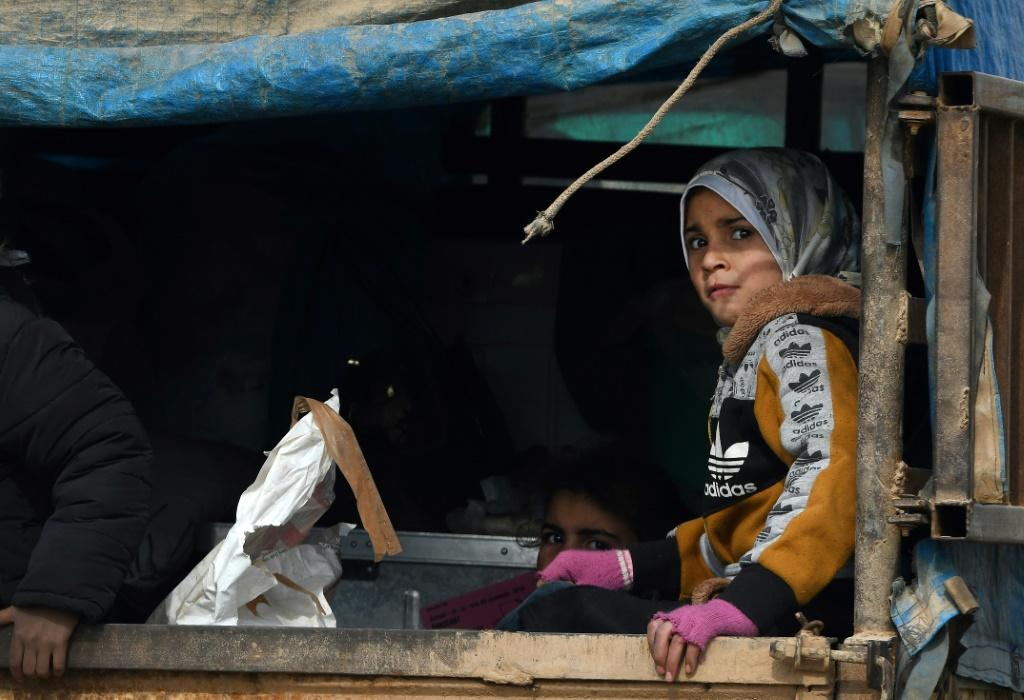 The violence in Idlib has displaced over 800,000 people since December, the UN says