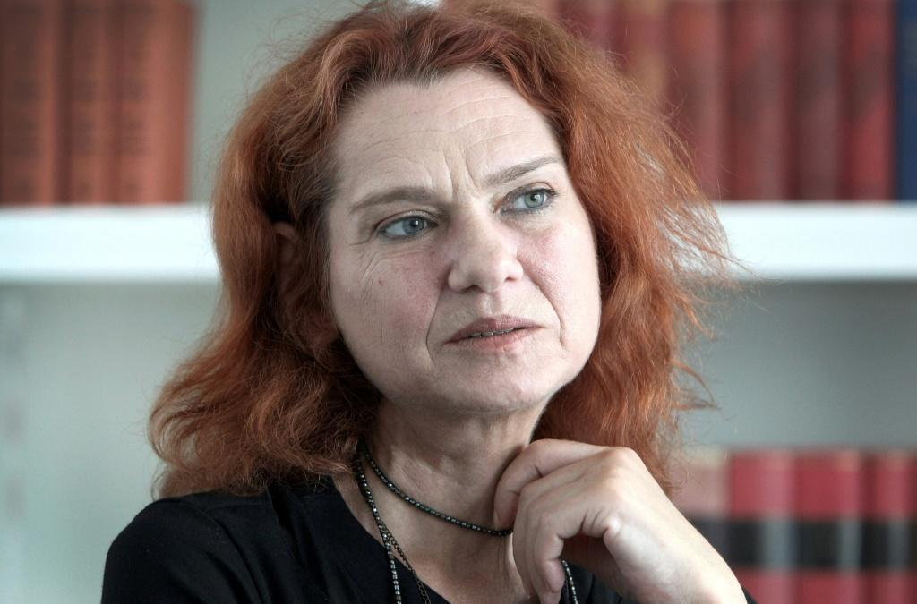 Turkish author Asli Erdogan, pictured in 2018, lives in exile in Germany