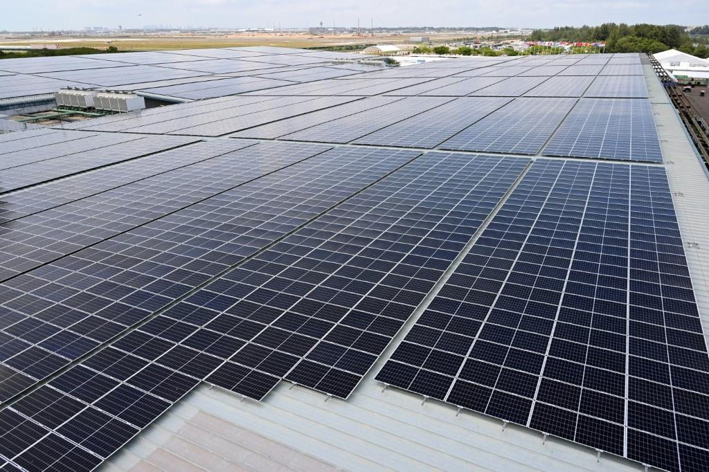 The Singapore Airshow was powered by solar panels