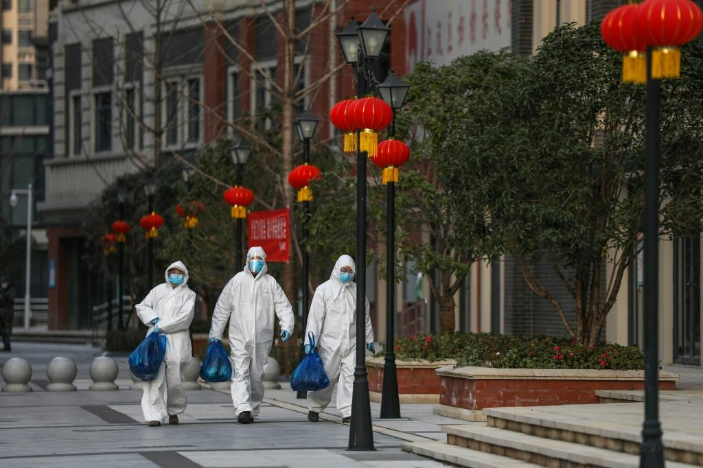 The Chinese epicentre of Wuhan continues to be badly affected by the new coronavirus