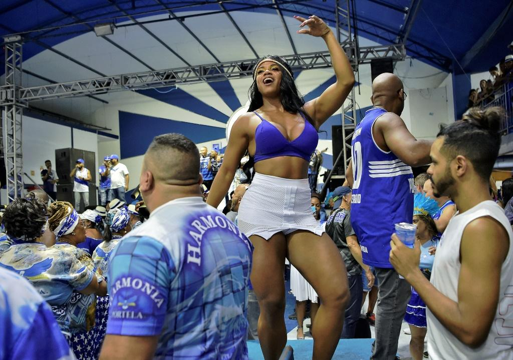 Bianca Monteiro spends much of the year preparing for her role as queen of Portela, a traditional Brazilian carnival school; she is seen here during a rehearsal on January 30, 2020 in Rio de Janeiro