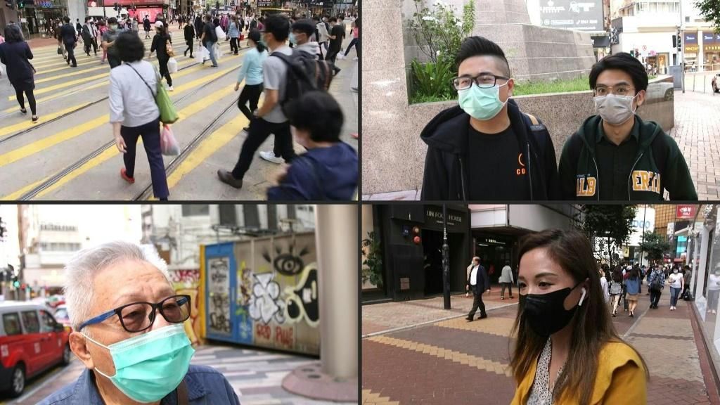 Hong Kongers react to an announcement that the government will give a HK$10,000 ($1,280) handout to each of the seven million permanent residents in a bid to jump-start a recession-hit economy now compounded by the coronavirus outbreak