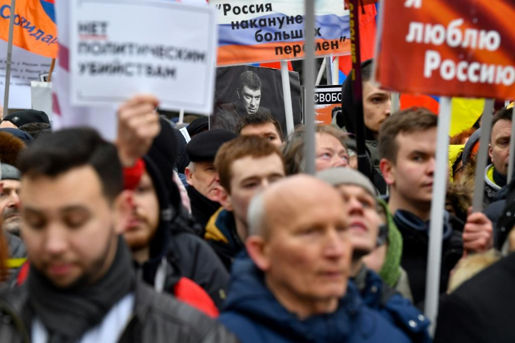 Opposition supporters push for release of political prisoners in Moscow rally, the first since Vladimir Putin controversial changed the constitution in January