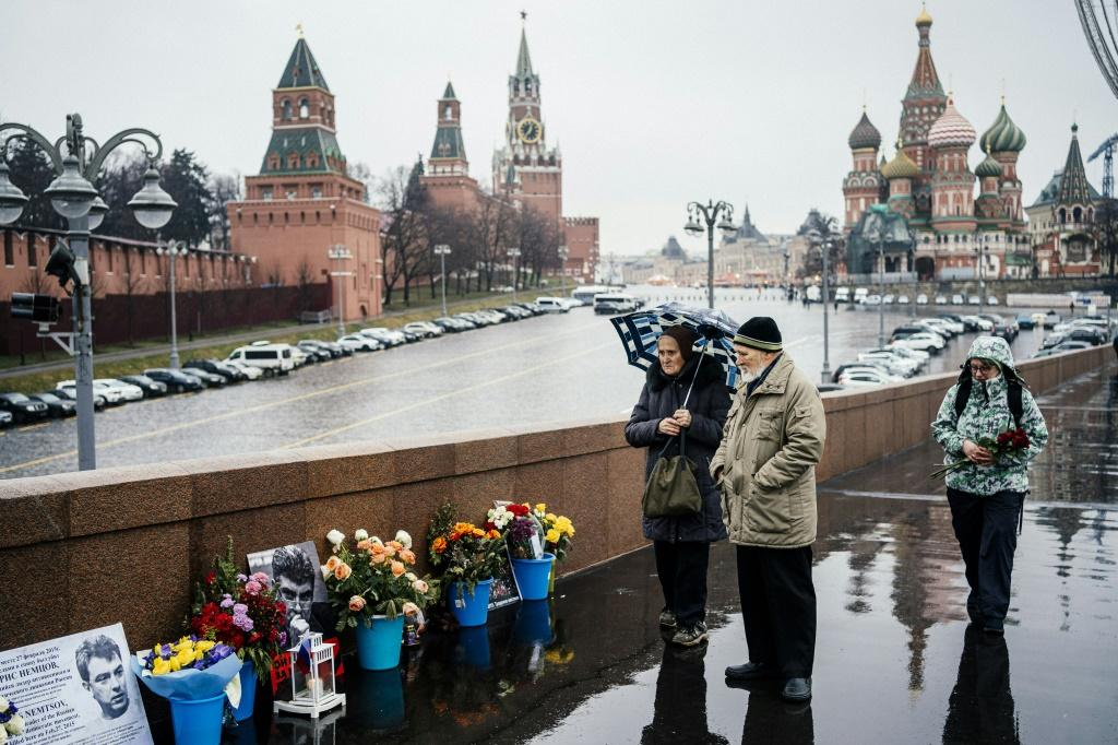 The rally marks five years since the assassination of opposition politician Boris Nemtsov