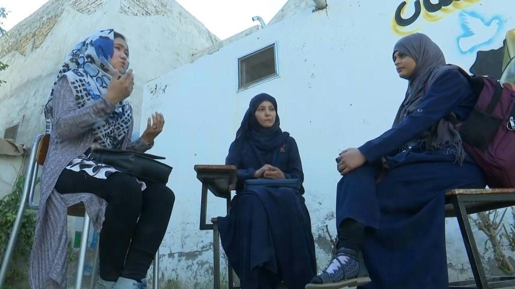 Kandahar schoolgirls discuss a potential Taliban comeback, speaking ahead of the US's historic accord with the militants.