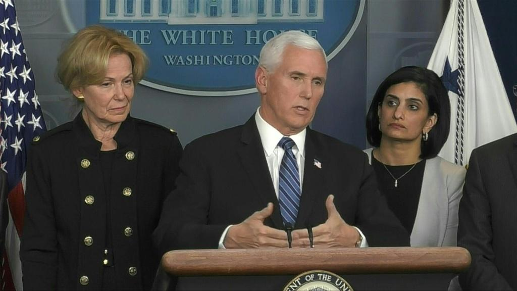 Vice-President Mike Pence says that drugs to treat the novel coronavirus could be available by this summer or fall, during a press briefing at the White House