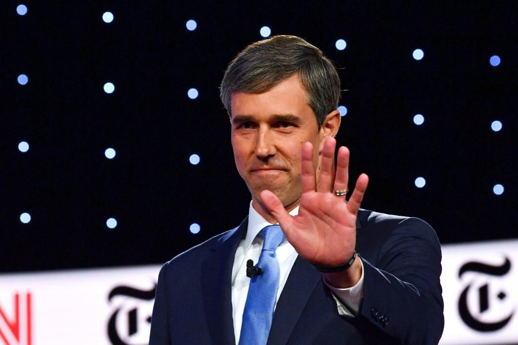Beto O'Rourke, pictured at a Democratic primary debate in October 2019, remains popular in Texas which has the second-largest Super Tuesday delegate haul -- O'Rourke endorsed Joe Biden