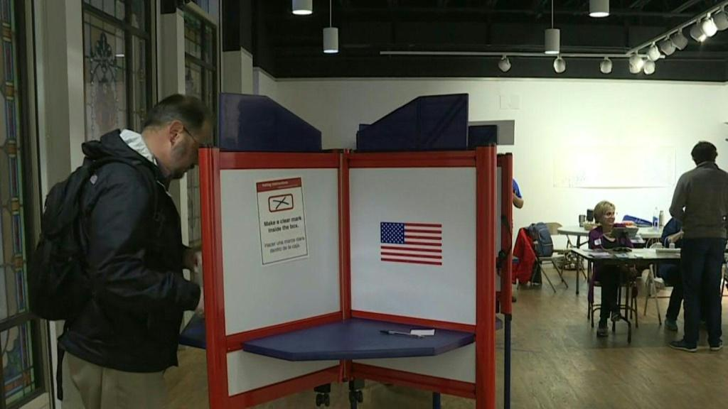 Voters cast their ballots in Arlington, Virginia, one of the 14 Super Tuesday states