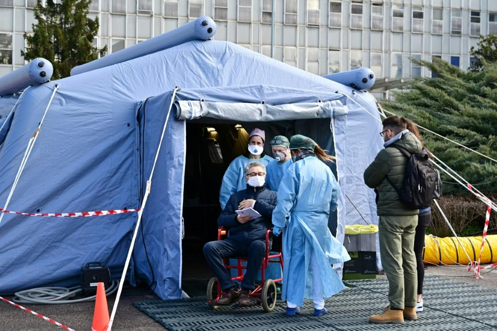 The military-style field tent and the army of medics equipped for just about any emergency are meant to make sure the virus is not spread by another hospital again