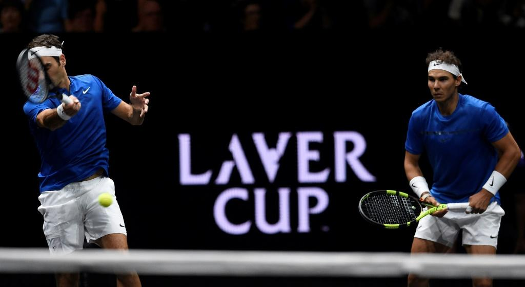 Roger Federer and Rafael Nadal team up at the 2017 Laver Cup