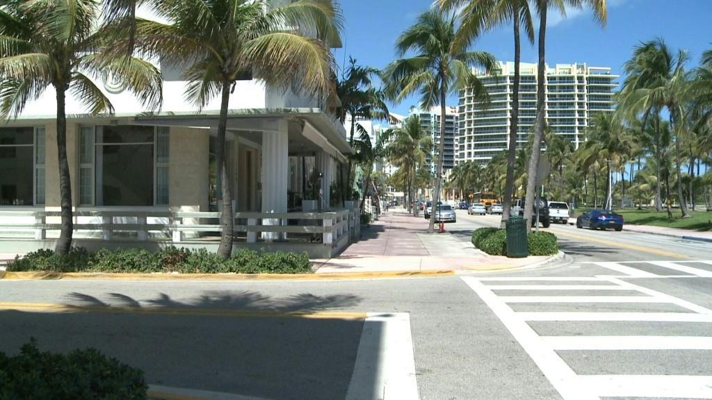 Miami Beach, a mecca for tourists, is all but empty after officials ordered the closure of all lodging establishments in an effort to fight the coronavirus. Duration:01:06