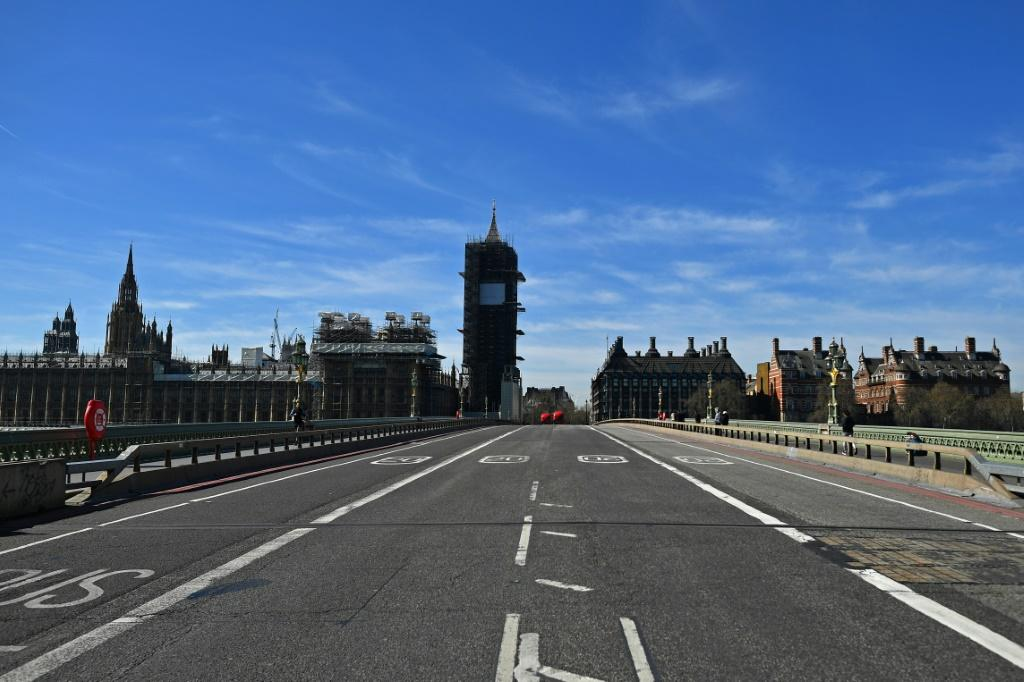 Many of London's streets were deserted following the introduction of the new measures