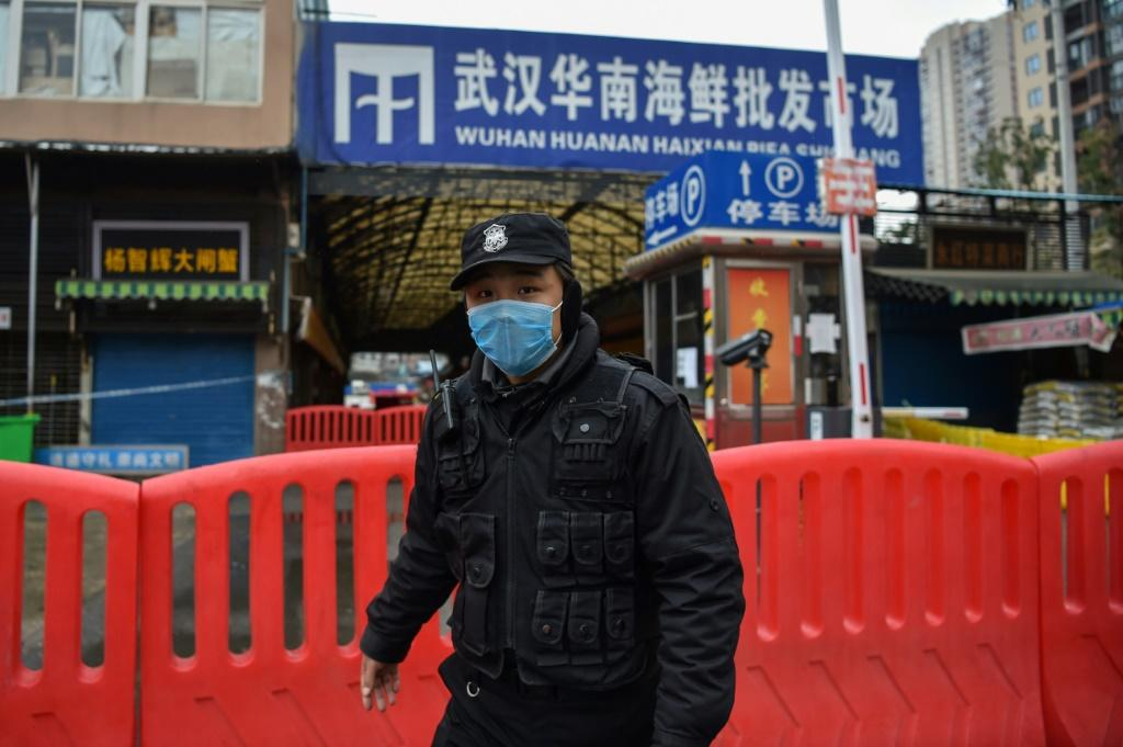 The wet market in China's Wuhan where the virus is believed to have emerged was shut down after the outbreak