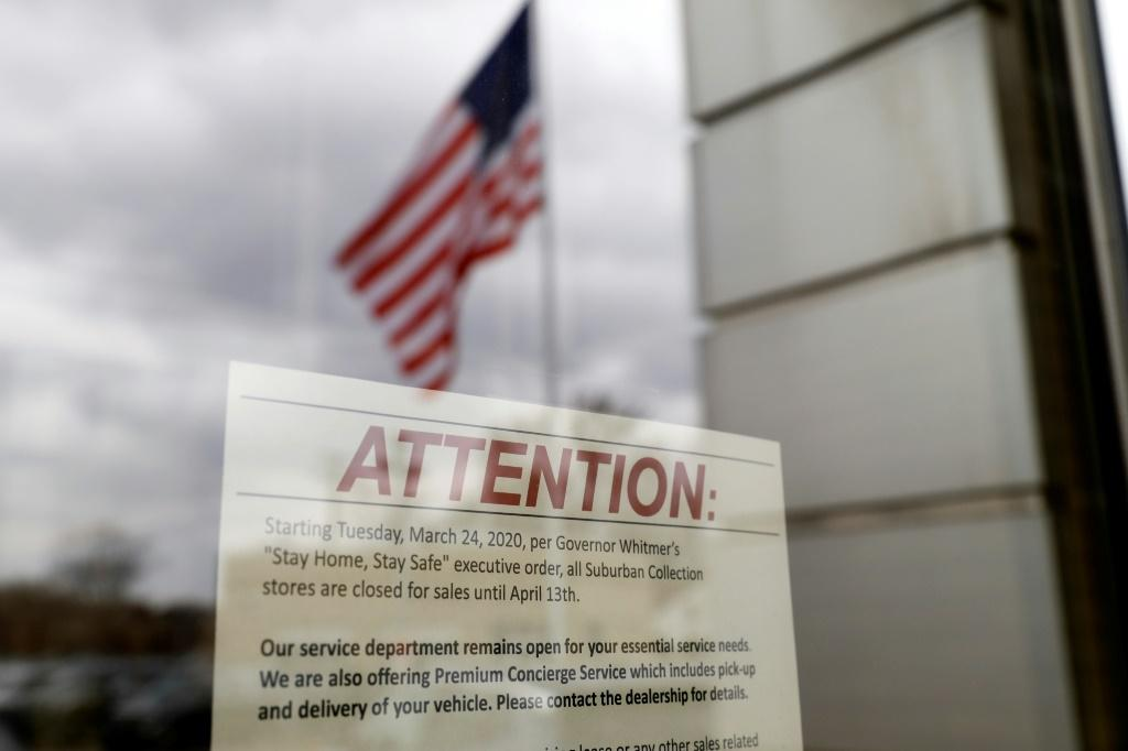 Even news that a record 3.3 million Americans claimed unemployment for the first time last week was unable to derail a rally in New York with the Dow and S&P 500