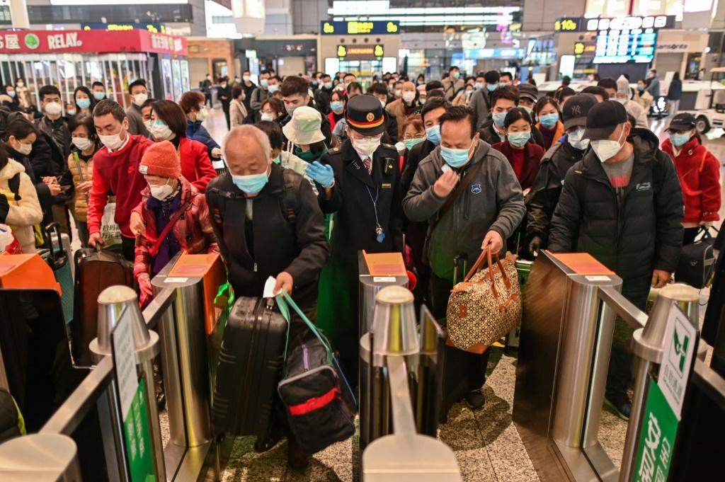 People are now allowed to enter Wuhan by train, and many trains arriving Saturday had been fully booked days in advance